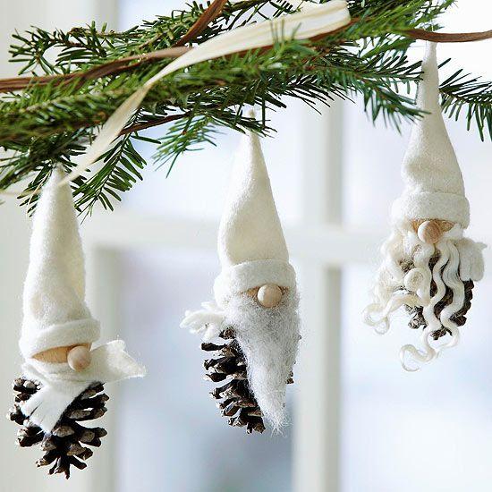 Estremamente Riciclo creativo: come riutilizzare le pigne per decori natalizi  GX86