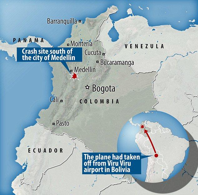 L'aereo caduto in Colombia era rimasto senza carburante