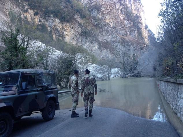 Il fiume Nera cambia percorso in seguito al terremoto del 30 ottobre 2016