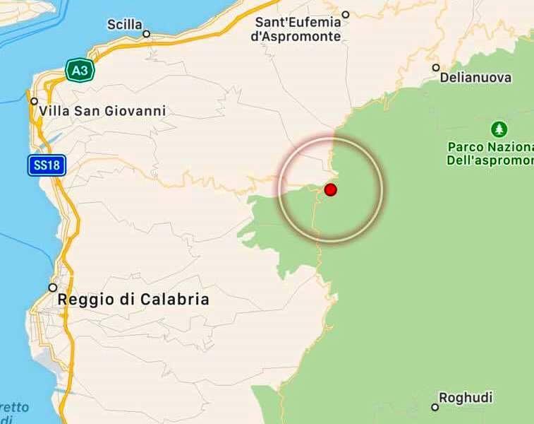 Terremoto in Aspromonte, paura a Reggio Calabria e Messina: epicentro a Gambarie, magnitudo 3.2 [MAPPE e DATI]
