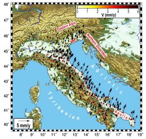 terremoto faglie italia movimenti