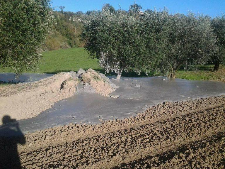 Vulcanelli di fango nelle Marche dopo il terremoto del 30 ottobre 2016