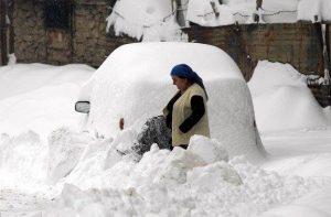Gli effetti delle abbondanti nevicate sul nord della Turchia lo scorso anno