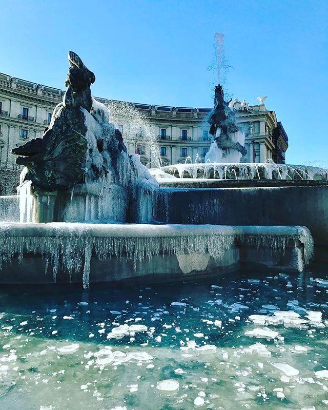 Roma, la fontana di Piazza della Repubblica