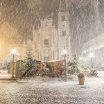 """""""Burian"""", la Sicilia si trasforma in una piccola """"Siberia Mediterranea"""": eccezionale nevicata notturna a Taormina e Acireale [FOTO LIVE]"""