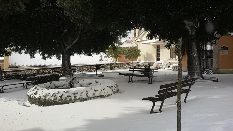 Neve anche nel Lazio: le foto da Cassino, Cervaro e San Donato Valle di Comino [GALLERY]