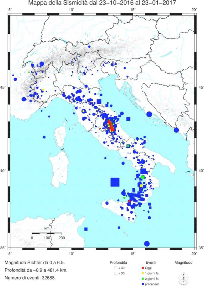 terremoti italia ingv