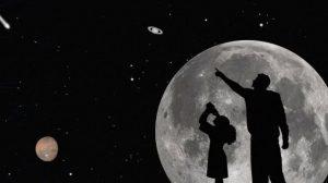 astronomia cielo stelle luna