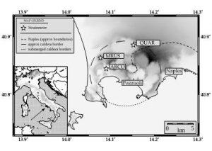 I segnali dei Campi Flegrei: sciami di terremoti, deformazioni del suolo e intensa attività fumarolica