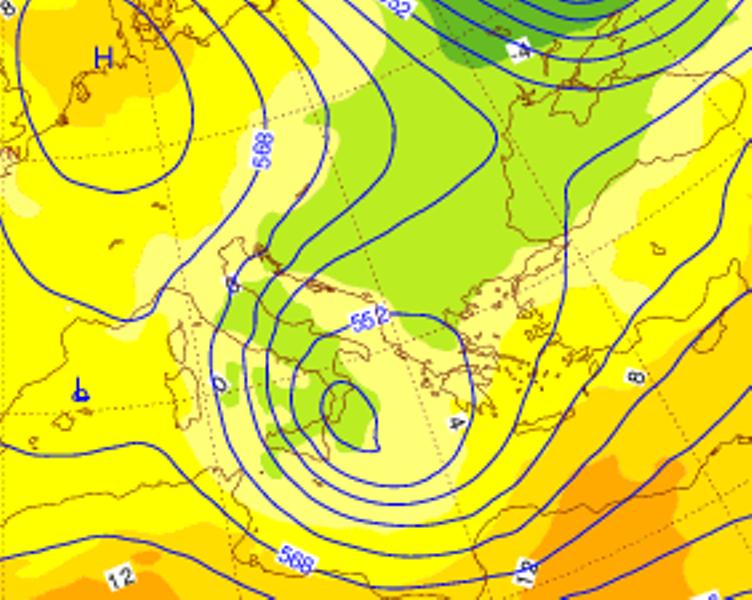 L'arrivo del freddo al Sud nella serata di Lunedì 27 Marzo