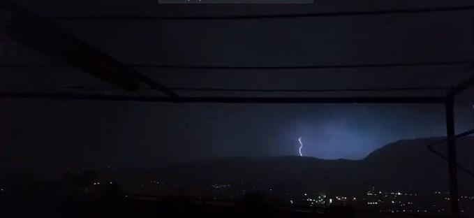 Intensa attività temporalesca abbattutasi sui monti dell'Irpinia. Foto a cura di Alessio Del Gaudio