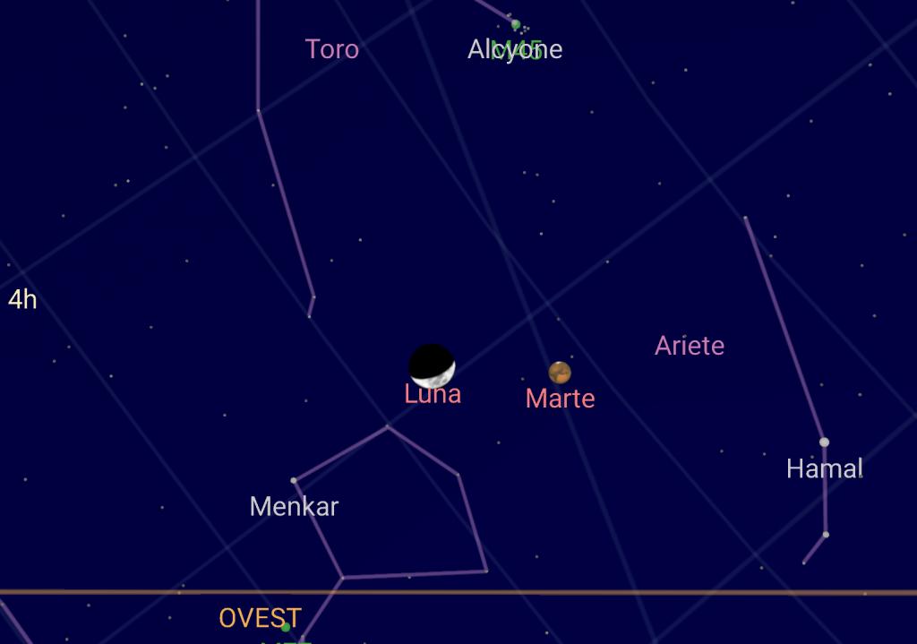 Astronomia: stasera l'incontro tra la Luna e Marte, le INFO UTILI per osservarlo