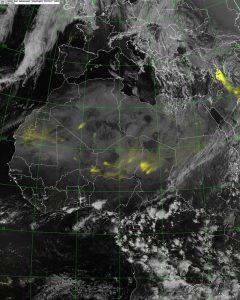 La tempesta di sabbia che dal deserto siriano tende ad estendersi verso l'Iraq e il nord dell'Arabia Saudita