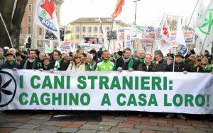 Striscione Lega Nord