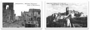 Cartoline illustrate che riproducono gli effetti del terremoto a Monterchi e Citerna [Tacchini, 1992]