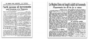 Titoli di corrispondenze del Resto del Carlino del 27 e 30 aprile 1917