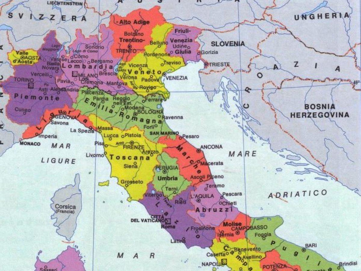 Cartina Geografica Italia 2017.Cambiano I Confini Dell Italia Ecco Come Sara La Nuova Cartina Geografica Meteoweb