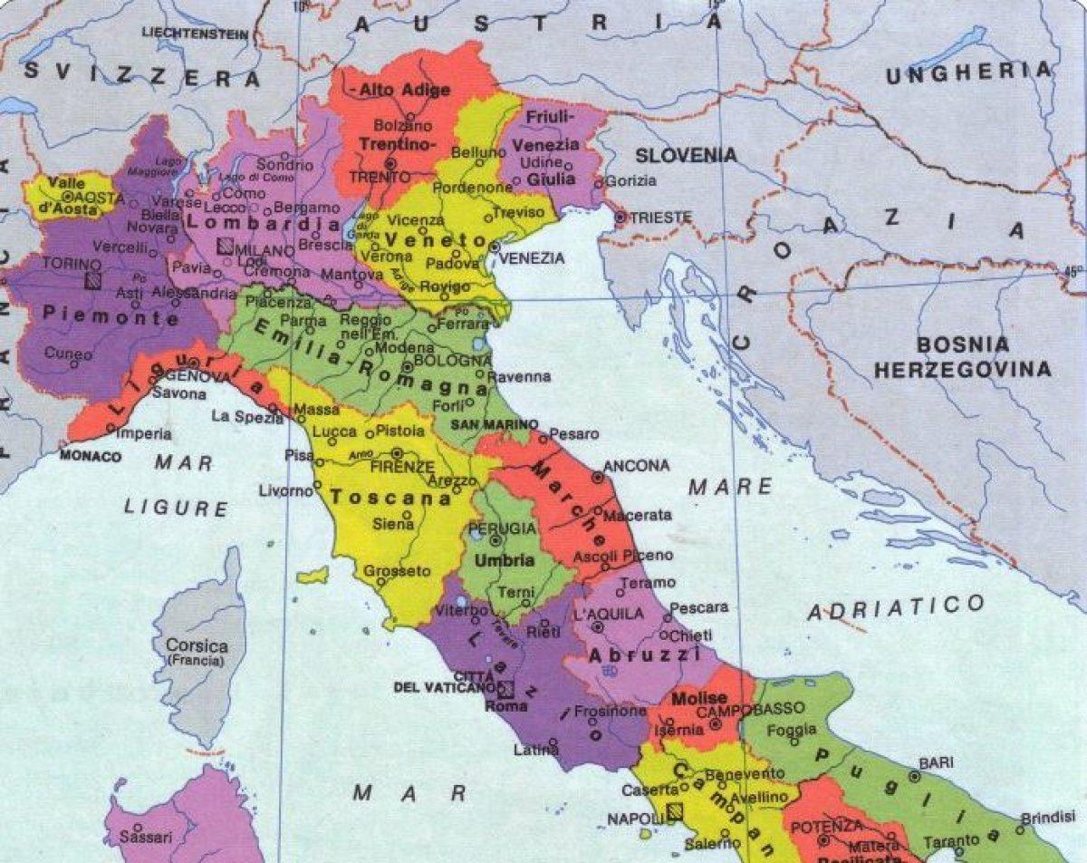 Cartina Fisica Del Friuli Venezia Giulia.Cambiano I Confini Dell Italia Ecco Come Sara La Nuova Cartina Geografica