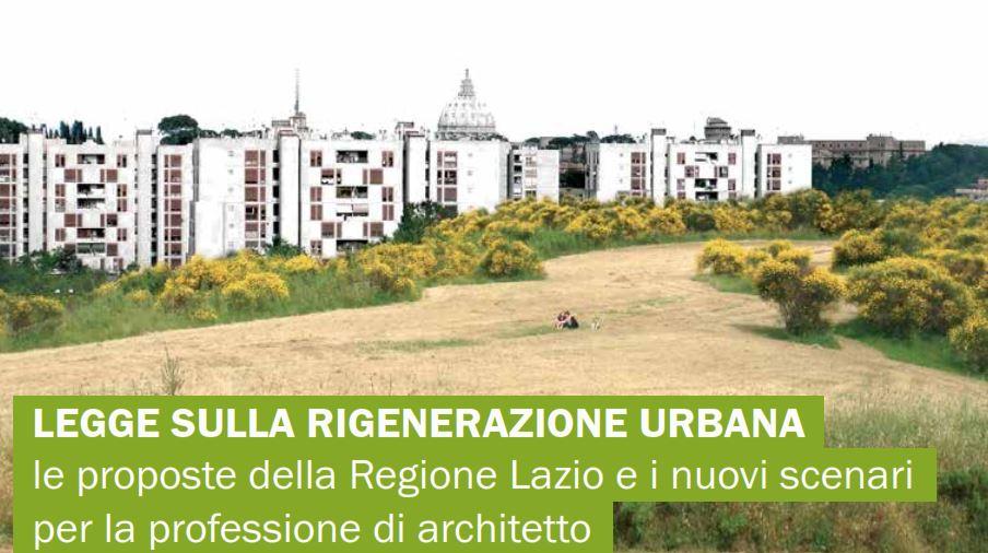 Roma rigenerazione urbana il 26 aprile alla casa dell for Piano casa 2017 lazio