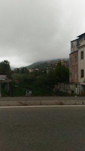 La strano fenomeno della nebbia di ieri sul Reventino