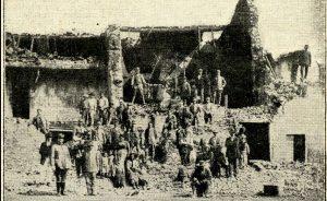 Gli effetti del terremoto a Mercatale [La Domenica Illustrata, 20 maggio 1917]