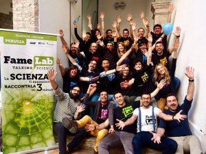 Famelab_foto di gruppo finalisti a perugia