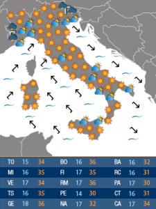 mappa meteoweb lunedì (72H)