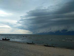 temporale sul lago Bajkal