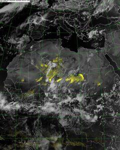 I temporali in azione sul Sahara algerino