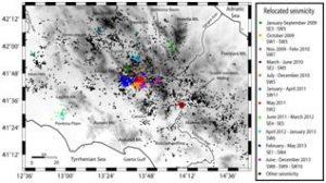 Tutta la sismicità 2009-2013 rilocalizzata