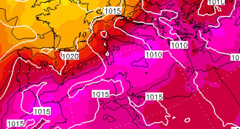 Il picco del caldo previsto sull'Italia tra 12 e 13 Luglio: temperature fino a +45/+46°C in tutto il Sud