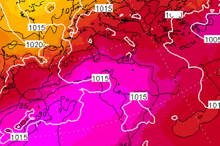 Il picco del caldo nella notte tra Domenica 23 e Lunedì 24