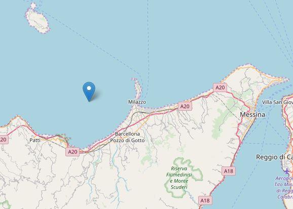 Il terremoto di stamattina nel Golfo di Patti: avvertito anche a Messina, paura a Milazzo, Barcellona Pozzo di Gotto, Capo d'Orlando e alle isole Eolie