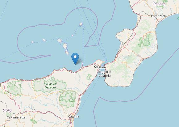 Terremoto Messina: scossa al largo di Terme Vigliatore, Oliveri e Milazzo [DATI e MAPPE]