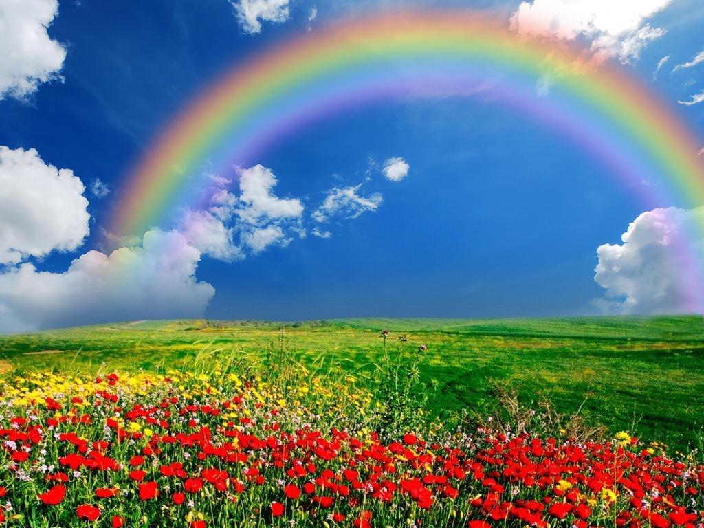 Arcobaleno racconti mitologici e storia della sua - Immagine di terra a colori ...