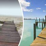 """Incredibile alle Bahamas, l'uragano Irma ha risucchiato l'oceano per chilometri: geografia stravolta, """"mai visto nulla del genere"""" [FOTO e VIDEO]"""