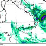 """Allerta Meteo, altre 24-36 ore di forte maltempo al Sud per l'Uragano Mediterraneo """"Numa"""" sullo Jonio [MAPPE e DETTAGLI]"""