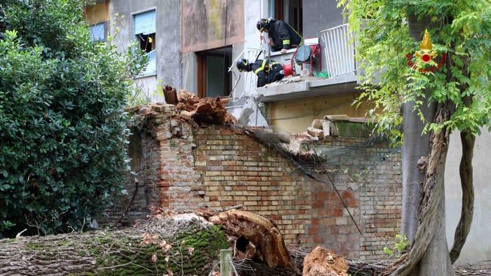 Albero si abbatte su una casa a Cannaregio (vigili del fuoco) (1)