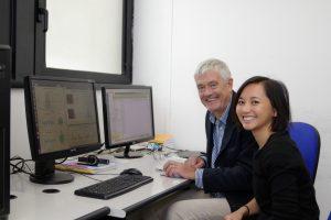Nella foto David Burr (Università di Firenze) e Tam Ho (Università di Pisa)