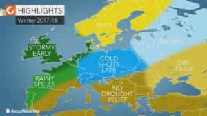 Previsioni Meteo Inverno 2017 2018 |  ecco la tendenza stagionale di AccuWeather |  Italia