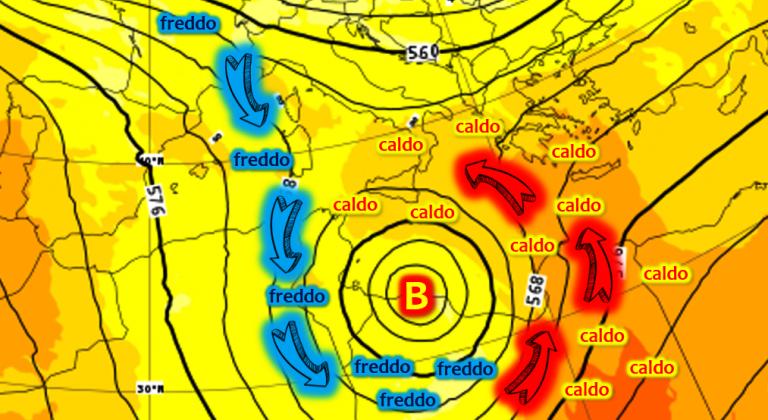 Notte tra Sabato 11 e Domenica 12 Novembre: la situazione intorno al ciclone Mediterraneo
