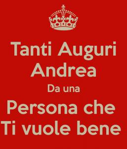 auguri buon onomastico Andrea