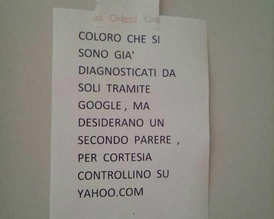 avviso medico google