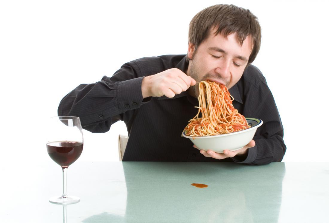 mangiare velocemente