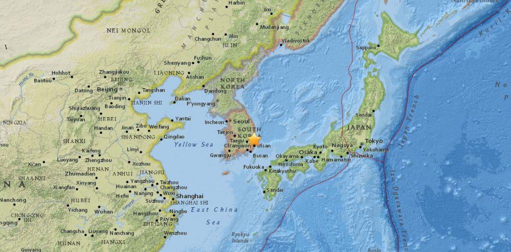 terremoto corea del sud