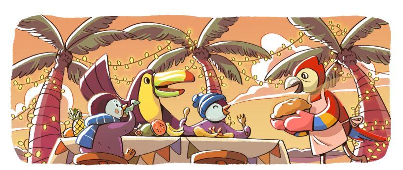 buone feste ecco il doodle di google per il natale 2017