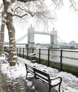 Londra neve