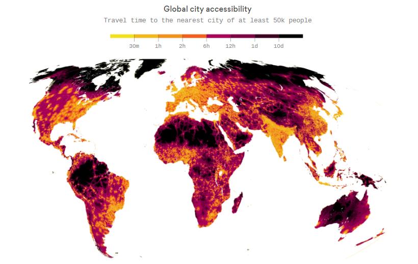 mappa accessibilità città