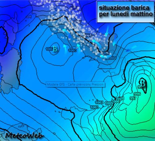 Allerta Meteo Burian, attenzione a Lunedì 26: NEVE diffusa al Centro, anche a ROMA! Possibili 5/10 cm sulla ...