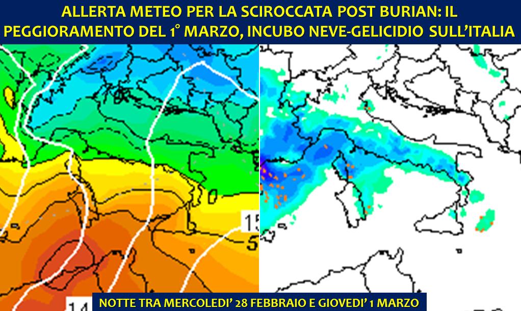 Allerta Meteo Sciroccata post Burian